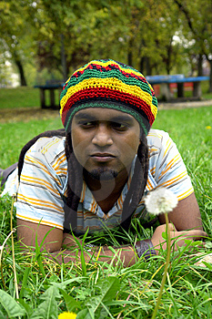 Sad Jamaican Thinking Royalty Free Stock Images - Image: 3478249