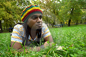 Sad Jamaican Thinking Stock Photo - Image: 3478260