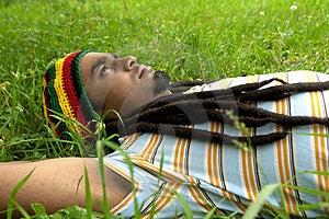 Sad Jamaican Thinking Stock Photo - Image: 3478350