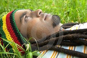 Sad Jamaican Thinking Stock Photo - Image: 3478360