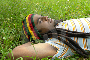 Sad Jamaican Thinking Royalty Free Stock Images - Image: 3478379