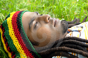 Sad Jamaican Thinking Royalty Free Stock Image - Image: 3478386
