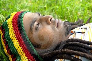 Sad Jamaican Thinking Royalty Free Stock Image - Image: 3478386