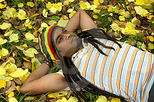 Sad Jamaican Thinking Royalty Free Stock Photography - Image: 3478747