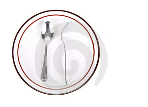Fork And Spoon In Odd Position Royalty Free Stock Photo - Image: 3482395