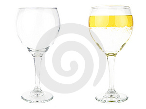 Half Empty Or Half Full Stock Photo - Image: 3482450
