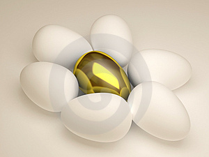 Unique golden egg Stock Photography