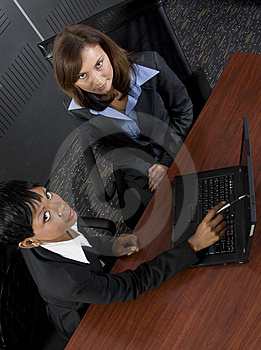 Two female business Stock Image