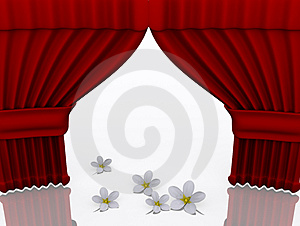 Stage With Flower Stock Images - Image: 3492344