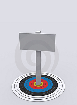 Board On Target Royalty Free Stock Photography - Image: 3493137