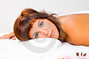 Woman on spa Stock Images