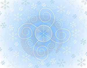 Abstract Snowflake Background Royalty Free Stock Images