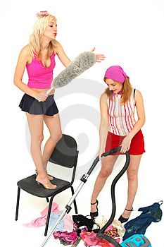 House-keeping fun 7 Stock Photography