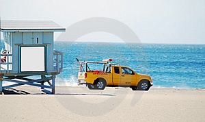 Lifeguard Truck And Stand Royalty Free Stock Image - Image: 3503816