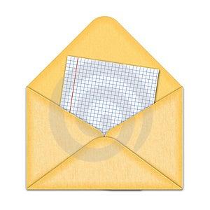 Yellow Envelope Stock Photo - Image: 3511960