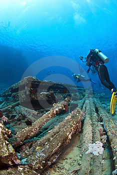 Photographer On Wreck Royalty Free Stock Images - Image: 3516289