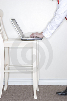 Typing On Laptop Royalty Free Stock Images - Image: 3520789