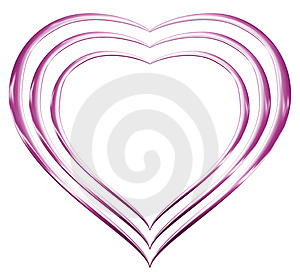 Pink Chrome Hearts Royalty Free Stock Images - Image: 3524689