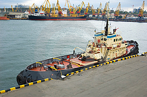 Moored Tugboat Stock Images - Image: 3528784