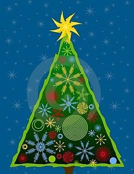 Abstract Christmas Tree Card 3