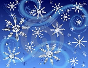 Dark Blue Snowflake Background Royalty Free Stock Photography