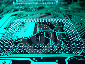 Computer circuit motherboard Royalty Free Stock Photography
