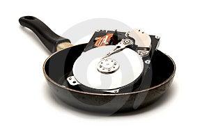Disco Rígido Cozinhado Fotografia de Stock - Imagem: 3541852