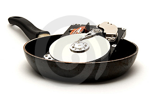 Cooked Hard Drive Stock Photos - Image: 3541853