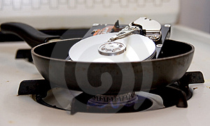 Fried Hard Drive Royalty Free Stock Photos - Image: 3541858