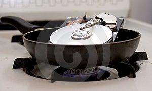 Fried Hard Drive Fotos de archivo libres de regalías - Imagen: 3541858