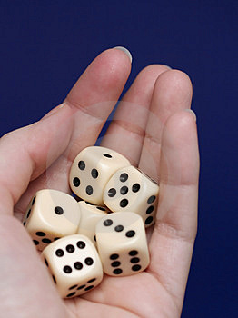 Dice Risk Stock Photos - Image: 3542143