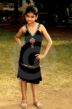 Rich Girl In Black Dress Royalty Free Stock Image - Image: 3542626