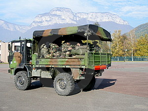 Troop Transport Royalty Free Stock Image - Image: 3542806