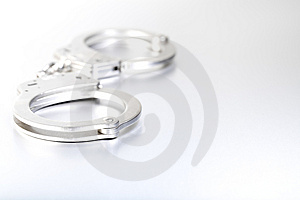 Handcuffs High-key Closeup Stock Images - Image: 3548014