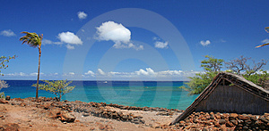 Tropical beach scenic Stock Images