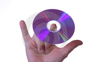 DVD On Fingers Stock Image - Image: 3554811