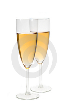 Champagne in flute Royalty Free Stock Photos