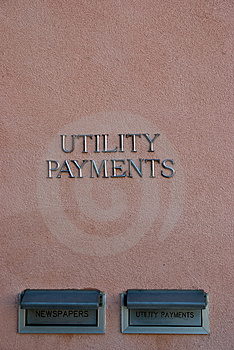 Utility Payments Stock Photo - Image: 3561220