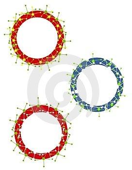 Christmas Ornament Frames 3 Stock Photo - Image: 3567920