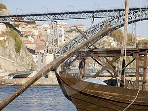 Tradicional Rebelo Boat Stock Image - Image: 3568661