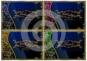 A Set Of Skins For The Family Photo Album (vector) Royalty Free Stock Photography - Image: 35651507