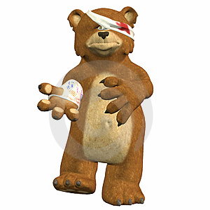 Hurt Bear Royalty Free Stock Images - Image: 3570219