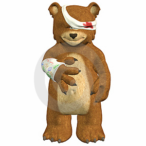 Hurt Bear Stock Images