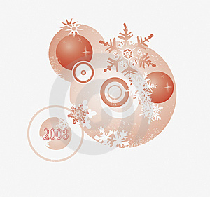 Element For The NYear Card Royalty Free Stock Images - Image: 3574829