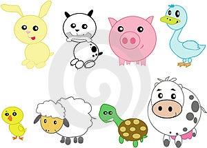 Animali domestici stilizzati Fotografie Stock