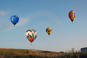 Ballooning Gathering Royalty Free Stock Photography - Image: 3576617