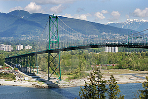 The Bridge And Mountains Stock Photography - Image: 3580502