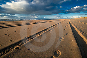 Tracks And Footsteps Stock Photos - Image: 3582123