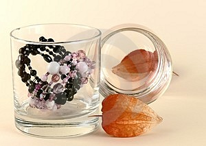Dry Flowers And Two Bracelets Royalty Free Stock Image - Image: 3585816