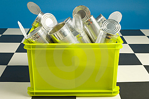 Bin Full Up With Tins Stock Photography - Image: 3589112